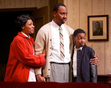 """""""A Raisin in the Sun"""" by Lorraine Hansberry, at Open Stage of Harrisburg in Harrisburg, Pa., through Feb. 22. Pictured: Leonard Dozier, Jessica Gondwe and Madison Bond."""