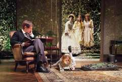 """""""The Missing Pages of Lewis Carroll"""" by Lily Blau, at Theatre @ Boston Court in Pasadena, Calif., through Feb. 22. Pictured: h Leo Marks, Corryn Cummins, Erica Hanrahan-Ball, Ashley Jones and Erin Barnes. (Photo by Ed Krieger)"""