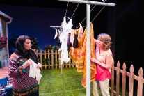 """Two Stories"" by Elaine Jarvik, at Salt Lake Acting Company in Salt Lake City, Utah, through Mar. 1. Pictured: Tamara Harrell and Alexandra Harbold. (Photo by dav.d daniels)"