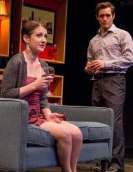 """""""Becky Shaw"""" by Gina Gionfriddo at Dobama Theatrer in Cleveland, Ohio, through March 29. Pictured: Anjanette Hall and Geoff Knox. (Steve Wagner Photography)"""