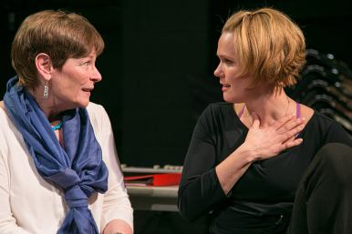 """""""Circle Mirror Transformation"""" by Annie Baker, at the Rep Stage in Columbia, Md., through Mar. 22. Pictured: Meg Kelly and Beth Hylton. (Photo by Katie Ellen Simmons Barth)"""