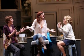 """Women in Jeopardy"" by Wendy MacLeod, at Geva Theatre Center in Rochester, N.Y. in 2015. Pictured: Julia Brothers, Ashley Shamoon and Jennifer Cody. (Photo by Ken Huth)"