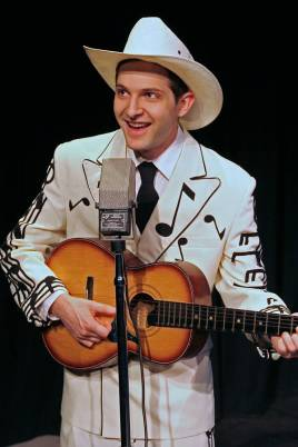 """Lost Highway, the Music and Legend of Hank Williams"" by Randal Myler and Mark Harelik, at Douglas Morrisson Theatre in Hayward, Calif., through Apr. 26. Pictured: Kevin Singer. (Photo by Terry Sullivan)"