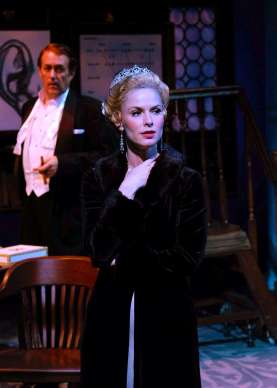 """""""My Fair Lady,"""" adapted by Frederick Loewe and Alan Jay Lerner from George Bernard Shaw, at Cygnet Theatre in San Diego, Calif., through Apr. 26. Pictured: Sean Murray and Allison Spratt Pearce. (Photo by Ken Jacques)"""