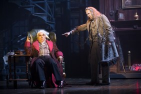 """""""A Christmas Carol"""" adapted by Michael Wilson from Dickens, at Ford's Theatre in Washington, D.C., through Dec. 31. Pictured: Edward Gero and James Konicek. (Photo by Scott Suchman)"""