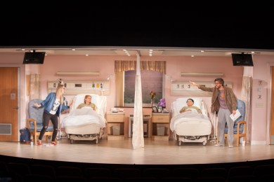 """""""A Funny Thing Happened on the Way to the Gynecologic Oncology Unit at Memorial Sloan Kettering Cancer Center of New York City"""" by Halley Feiffer, at Geffen Playhouse in 2017."""