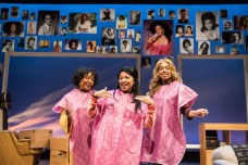 """""""A Wonder in My Soul"""" by Marcus Gardley, at Victory Gardens Theater in Chicago, through March 12. Pictured: Jacqueline Williams, Linda Bright Clay, and Camille Robin. (Photo by Liz Lauren)"""