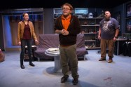 """""""All Childish Things"""" by Joseph Zettelmaier, at Know Theatre in Cincinnati through Dec. 19. Pictured: Laurie Roberts, Chris Wesselman, and Ben Dudley."""