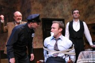 """""""Arsenic and Old Lace,"""" by Joseph Kesselring, at Odyssey Theatre Ensemble in Los Angeles through Oct. 8. Pictured: Ron Bottitta, Michael Antosy, J.B. Waterman, and Gera Hermann. (Photo by Enci Box)"""