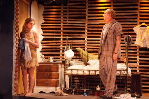 """""""Baby Doll,"""" adapted by Pierre Laville and Emily Mann from Tennessee Williams, at Fountain Theatre in Los Angeles through Sept. 25. Pictured: Lindsay LaVanchy and John Prosky."""