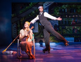 """""""Benny & Joon,"""" by Kirsten Guenther, Nolan Gasser, and Mindi Dickstein, at the Old Globe in San Diego, through Oct. 22. Pictured: Hannah Elless and Bryce Pinkham. (Photo by Jim Cox)"""