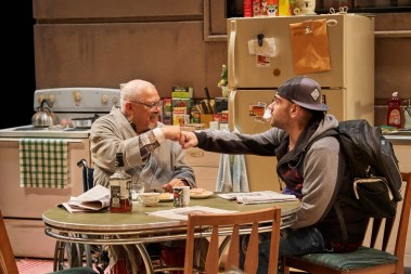 """Between Riverside and Crazy"" by Stephen Adly Guirgis, at Cleveland Play House through April 23. Pictured: Larry Marshall and Dominic Colón. (Photo by Roger Mastroianni)"