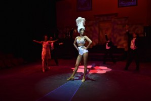 """""""Black Pearl: A Tribute to Josephine Baker"""" by Daryl D. Brooks, at Black Ensemble Theater in Chicago through June 25. Pictured: Ariel Williams and ensemble. (Photo by Michael Courier)"""