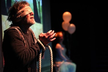 """""""Blackberry Winter"""" by Steve Yockey, at Oregon Contemporary Theatre in Eugene, Ore., through May 7. Pictured: Dan Pegoda. (Photo by Brittany Dorris)"""