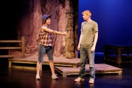 """""""Bridge to Terabithia"""" by Katherine Paterson, Stephanie S. Tolan, and Steve Liebman, at Main Street Theatre in Houston, through Feb.21. Pictured: Leslie Lenert and Will Ritchie."""