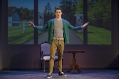 """""""Buyer and Cellar"""" by Jonathan Tolins, at Penguin Repertory Theatre in Stony Point, N.Y., through July 24. Pictured: Parker Drown. (Photo by Dorice A. Madronero)"""