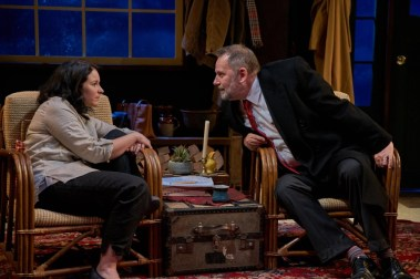 """""""Clean Alternatives"""" by Brian Dykstra, at Kitchen Theatre Company in Ithaca, N.Y., through June 18. Pictured: Lori Prince and Brian Dykstra."""