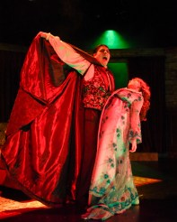 """Dracula: The Vampire Play,"" adapted by Hamilton Deane and John L. Balderston from Bram Stoker, at Dallas Children's Theater through Oct. 29. Pictured: Peter Sanchez and Sierra Stead. (Photo by Karen Almond)"