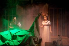 """""""Frankenstein"""" adapted by Jerry Montoya from Mary Shelley, at B Street Theatre in Sacramento, Calif., through March 20. Pictured: John Lamb and Megan Wicks."""