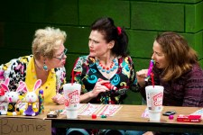 """""""Good People"""" by David Lindsay-Abaire, at American Stage Theatre Company in St. Petersburg, Fla., through Oct. 2. Pictured: Bonnie Agan, Vickie Daignault, and Rebecca Dines. (Photo by Kara Goldberg)"""