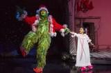 """Dr. Seuss's How the Grinch Stole Christmas,"" by Timothy Mason, Mel Marvin, and Jack O'Brien, at the Old Globe in San Diego, Calif., through Dec. 26. Pictured: J. Bernard Calloway and Mikee Castillo. (Photo by Jim Cox)"