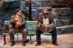 """""""I'm Not Rappaport"""" by Herb Gardner, at Aurora Theatre in Lawrenceville, Ga., through June 5. Pictured: Kenny Raskin and Rob Cleveland. (Photo by Chris Bartelski)"""