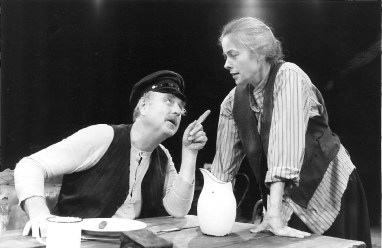 """Denis Arndt and Tana Hicken in """"Juno and the Paycock"""" at Arena Stage in 1990. (Photo by Joan Marcus)"""