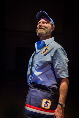 """""""Edward King"""" by Gary Graves, at Central Works in Berkeley, Calif., through June 18. Pictured: John Patrick Moore. (Photo by Photo by J. Norrena)"""