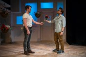 """""""Le Switch"""" by Philip Dawkins, an About Face Theatre production at Theater Wit in Chicago, in 2016. Pictured: Collin Quinn Rice and Stephen Cone. (Photo by Michael Brosilow)"""