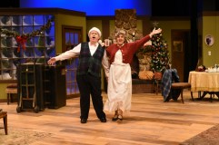 """""""Let It Snow"""" by Peter Quilter, at Center Stage Theater in Greenville, S.C., through Dec. 19. Pictured: Rod McClendon and Susan Lyle. (Photo by Wallace Krebs)"""