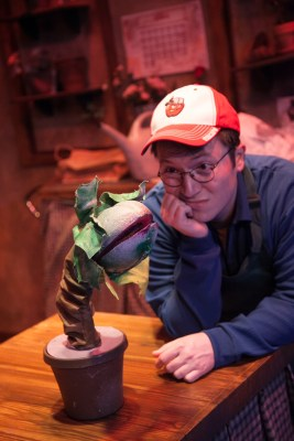 """""""Little Shop of Horrors"""" by Howard Ashman and Alan Menken, at American Blues Theater in Chicago through July 31. Pictured: Michael Mahler. (Photo by Johnny Knight)"""