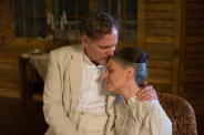 """""""Long Day's Journey Into Night"""" by O'Neill, at Undermain Theatre in Dallas in 2016. Pictured: Bruce DuBose and Joanna Schellenberg. (Photo by Katherine Owens)"""
