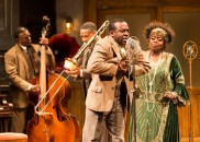"""""""Ma Rainey's Black Bottom"""" by August Wilson, at the Mark Taper Forum in Los Angeles, through Oct. 16. Pictured: Keith David, Damon Gupton, Lamar Richardson, and Lillias White. (Photo by Craig Schwartz)"""