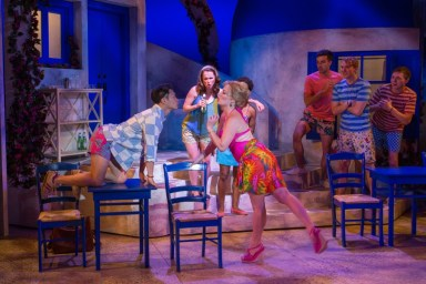"""Mamma Mia"" by Catherine Johnson, Benny Andersson, and Bjorn Ulvaeus, at Theatre Aspen in Aspen, Colo., through Aug. 13."