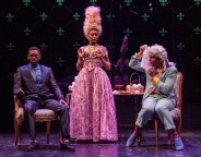 """""""Marie Antoinette"""" by David Adjmi, at Dobama Theatre in Cleveland, through May 22. Pictured: Robert Hunter, Carly Germany, and Dan Hendrock."""