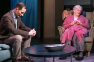 """""""Marjorie Prime"""" by Jordan Harrison, at Artists Repertory Theatre in Portland, Ore., through March 5. Pictured: Chris Harder and Vana O'Brien."""