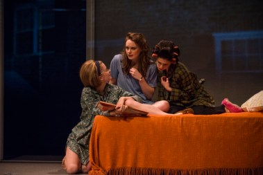 """Mary Page Marlowe"" by Tracy Letts, at Steppenwolf Theatre Company in Chicago through May 29. Pictured: Tess Frazer, Annie Munch, and Ariana Venturi. (Photo by Michael Brosilow)"