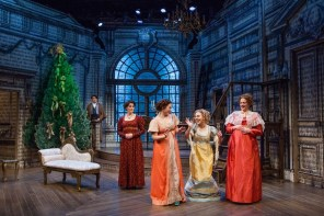 """""""Miss Bennet: Christmas at Pemberley,"""" by Lauren Gunderson and Margot Melcon at Merrimack Repertory Theatre in Lowell, Mass., through Dec. 23."""