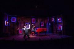 """Murder for Two,"" by Joe Kinosian and Kellen Blair, at Merrimack Repertory Theatre in Lowell, Mass., through Nov. 11."