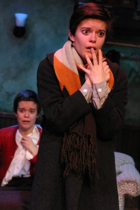"""""""My Sister"""" by Janet Schlapkohl, at Odyssey Theatre in Los Angeles, through March 6. Pictured: Elizabeth Hinkler and Emily Hinkler. (Photo by Enci Box)"""