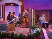 """Native Gardens"" by Karen Zacarías, at WaterTower Theatre in Addison, Texas, through June 25. Pictured: Stephanie Cleghorn Jasso, Ivan Jasso, John S. Davies, and Lois Sonnier Hart. (Photo by Karen Almond)"