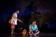 """""""Objects In the Mirror"""" by Charles Smith, at the Goodman Theatre in Chicago, through June 4. Pictured: Daniel Kyri and Breon Arzell."""