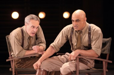 """""""Othello"""" by William Shakespeare, at Shakespeare Theatre Company in Washington, D.C., through Aug. 27. Pictured: Jay Whittaker and Faran Tahir. (Photo by Jennifer Reiley)"""