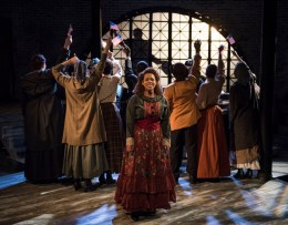 """""""Ragtime,"""" by Terrence McNally, Lynn Ahrens, and Stephen Flaherty, at Griffin Theatre in Chicago through July 16. Pictured: Katherine Thomas and cast. (Photo by Michael Brosilow)"""