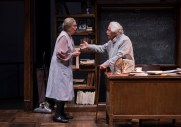 """""""Relativity"""" by Mark St. Germain, at Northlight Theatre in Skokie, Ill., through June 18. Pictured: Ann Whitney and Mike Nussbaum. (Photo by Michael Brosilow)"""