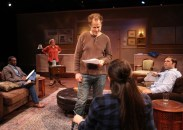 """Seminar"" by Theresa Rebeck, at the Chance Theater in Los Angeles through Oct. 23. Pictured: Christian Telesmar, Karen Jean Olds, Ned Liebl, Asialani Holman, and Casey Long. (Photo by Doug Catiller, True Image Studio)"