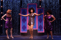"""Sister Act,"" by Bill and Cheri Steinkellner, Douglas Carter Beane, Glenn Slater, and Alan Menken, at Charleston Stage Company in Charleston, S.C., through April 30. Pictured: Lara Allred, Aleah Vassell, and Camille Corinne."