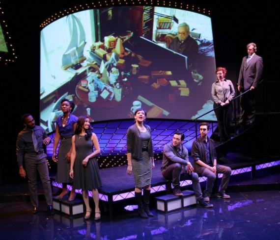"""""""Sondheim on Sondheim"""" by James Lapine and Stephen Sondheim, at the Lyric Stage Company of Boston in 2016. (Photo by Mark S. Howard)"""