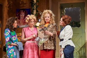 """""""Steel Magnolias"""" by Robert Harling, a coproduction of Cleveland Play House and Playhouse Square, through Aug. 21. Pictured: Devon Caraway, Allison Layman, Elizabeth Meadows Rouse, and Charlotte Booker. (Photo by Roger Mastrioanni)"""