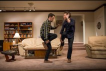 """Straight White Men"" by Young Jean Lee, at Steppenwolf Theatre in Chicago, through March 19. Pictured: Ryan Hallahan and Madison Dirks. (Photo by Michael Brosilow)"